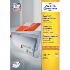 Etichette bianche per buste formato A5 Avery - 97x42,3 mm - 6 - 6132 (conf.200) - Avery