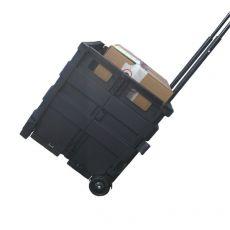 Cassetta pieghevole portatile Viso - nero - TROLLEY GP - Viso