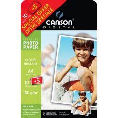 Carta fotografica Everyday Canson - lucida - A4 - 180 g/mq - 200004475 (conf.10+5) - Canson
