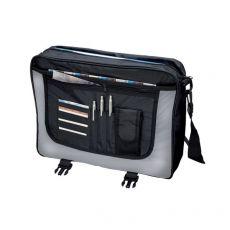 Borsa tascapane Wave Lightpak - 46 x35 x12 cm - nero/grigio - 46069 - Lightpak