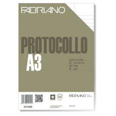 Fogli protocollo Fabriano - standard - rigato uso bollo - 66 g/mq - 02310566 (conf.200) - Fabriano
