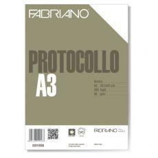 Fogli protocollo Fabriano - standard - bianco - 66 g/mq - 02010566 (conf.200) - Fabriano