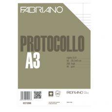 Fogli protocollo Fabriano - standard - rigato a 31 - 2 margini - 66 g/mq - 02210566 (conf.200) - Fabriano