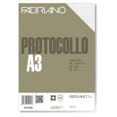 Fogli protocollo Fabriano - standard - 5 mm - 66 g/mq - 02810566 (conf.200) - Fabriano