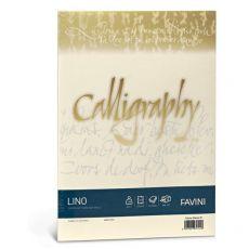 Calligraphy effetto lino Favini - lino - avorio - fogli - A4 - 200 g - A69Q614 (conf.50) - Favini