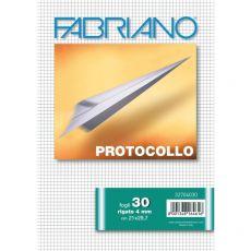 Fogli protocollo Fabriano - in blister - 4 mm - 60 g/mq - 32704030 (conf.30) - Fabriano