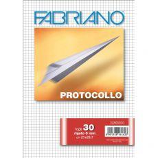 Fogli protocollo Fabriano - in blister - 5 mm - 60 g/mq - 32805030 (conf.30) - Fabriano