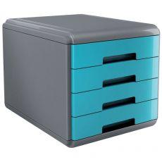 Accessori Da Scrivania My Desk Arda - Cassettiera - 29,5x38,5x28,2 cm - Turchese - 18P4Ptu - Arda
