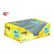 Foglietti Post-It® Notes Giallo Canary™ Value Pack  - 76x127 mm - Giallo Canary - 655Cy-Vp20 (Conf.16+4) - Post-It