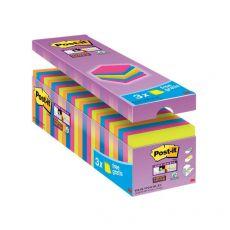 Foglietti Post-It® Super Sticky Value Pack Colore  - 76x76 mm - 32516 (Conf.24) - Post-It