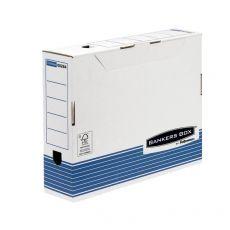 Contenitore Archivio A4 Dorso 8 cm Bankers Box System Fellowes - A4 - 32,7x8,5x26,5cm - 0026401 (Conf.10) - Fellowes