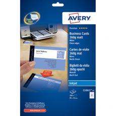 Biglietti visita Quick&Clean™Avery -Inkjet-fronte-retro-bianco patinato-260g/mq-C32015-25 (conf.200) - Avery