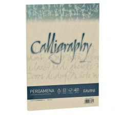 Calligraphy Pergamena Liscio Favini - crema - fogli - A4 - 190 g - A692084 (conf.50) - Favini
