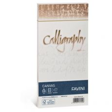 Calligraphy Canvas Ruvido Favini - bianco - 11x22 cm - 100 g - A570414 (conf.25) - Favini