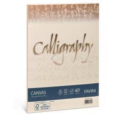 Calligraphy Canvas Ruvido Favini - avorio - 11x22 cm - 100 g - A57Q414 (conf.25) - Favini