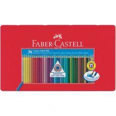Matite Colorate Acquerellabili Colour Grip Faber Castell - Astuccio Metallo - 112435 (Conf.36) - Faber Castell