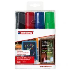 Marcatore A Gesso Liquido 4090 E 4095 Edding -  A Scalpello - 4-15 mm - Assortiti - E-4090/4 S (Conf.4) - Edding