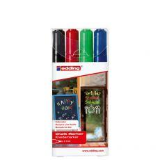 Marcatore A Gesso Liquido 4090 E 4095 Edding - Punta Tonda - 2-3 mm - Assortiti - E-4095/4 S (Conf.4) - Edding