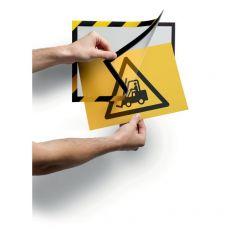conf. 2 Cornice autoadesiva giallo/nera Durable 4944-130 - Durable