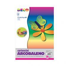 Cartoncino arcobaleno alto spessore CWR - 50x70 cm - Assortiti - 05433 (conf.10) - DECO