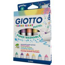 Giotto Turbo Giant  - Super Lavabili - Assortito - 1-6 mm - 431000 (Conf.6) - Giotto