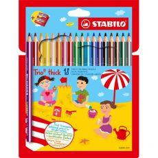 Matite colorate Trio Maxi Stabilo - 4,2 mm - 203/2-18 (conf.18) - Stabilo