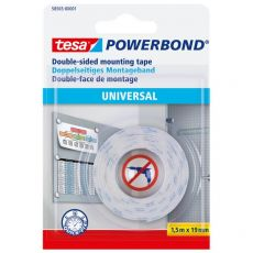 Biadesivo Universal Powerbond Tesa - blister - 1,5 mt x19 mm - bianco - 58565-00001-00 - Tesa