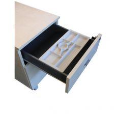 Vaschetta porta cancelleria per Cassettiera fianco pannello Londra - 35 cm - 16,5 cm - 2,5 cm - C2005x - Linekit