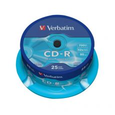 CD Verbatim - CD-R - 700 Mb - 52x - Extra Protection - Spindle - 43432 (conf.25) - Verbatim