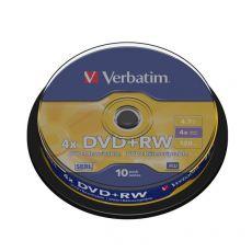 DVD Verbatim - DVD+RW - 4,7 Gb - 4x - Spindle - 43488 (conf.10) - Verbatim