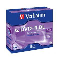 DVD Verbatim - DVD+R - 8,5 Gb - 8x - DL - Jewel case - 43541 (conf.5) - Verbatim