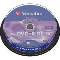 DVD Verbatim - DVD+R - 8,5 Gb - 8x - DL - Spindle - 43666 (conf.10) - Verbatim