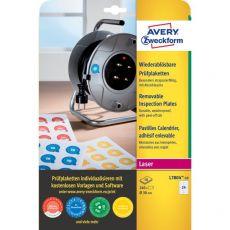 Bollini adesivi di ispezione stampabili Avery - diam. 30 mm - 24 - L7804-10 (conf.10) - Avery