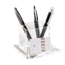 Bicchiere portapenne Acrylight CEP -  trasparente - 11,5x10,5x8,3 cm - 440C - CEP