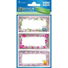 Etichette adesive per libri ZDesign by Avery - principesse - 59243 (conf.3) - ZDesign by Avery