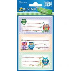 Etichette adesive per libri ZDesign by Avery - gufi - 59249 (conf.3) - ZDesign by Avery