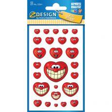 Etichette adesive per libri ZDesign by Avery - cuori - 53241 (conf.3) - ZDesign by Avery