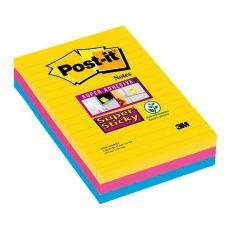 Foglietti Post-it® Super Sticky Formato XXL a righe Post-It - - 4690SS3RIO (conf.3) - Post-It
