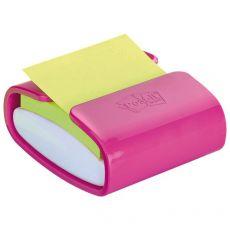 Dispenser ricaricabile per foglietti Post-it® Z-Notes PRO - 76x76 mm - bianco e fucsia - PRO-C-1SSC-EU - Post-It