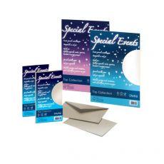 Carta e buste metallizzate Special Events Favini - sabbia - fogli - A4 - 120 g/mq - A69N154 (conf.20) - Favini