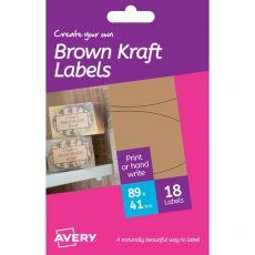 Etichette bianche removibili Avery - 41x89 mm - 3 - HBK03 (conf.6) - Avery