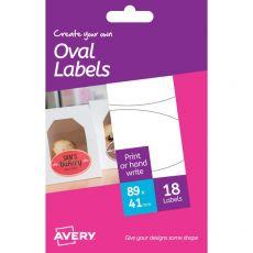 Etichette bianche removibili Avery - 41x89 mm - 3 - Ovale - HRR03 (conf.6) - Avery