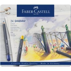 Astuccio matite colorate GOLDFABER Faber Castell - 3,3 mm - 114724 (conf.24) - Faber Castell