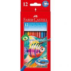 Astuccio matite acquerellabili Faber Castell - 3,3 mm - 114413 (conf.12) - Faber Castell