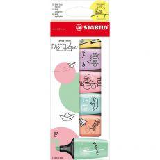 Evidenziatore BOSS MINI Pastellove Stabilo - assortito - 07/06-27 (conf.6) - Stabilo