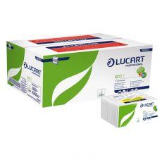 Asciugamani intercalati Lucart - Z - 2 veli - carta ecologica - 23x23,5 cm - 864014 (conf.18) - Lucart