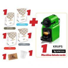 Kit macchina Caffè Inissia+caffè+bicchiere+zucchero - Mokamore