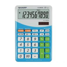 Calcolatrice da tavolo EL-M332B a 10 cifre Sharp - blu - SH-ELM332BBL - Sharp