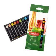 Pastelli ad olio Derwent Academy - assortiti - 2301952 (conf.12) - Derwent