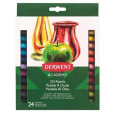 Pastelli ad olio Derwent Academy - assortiti - 2301953 (conf.24) - Derwent